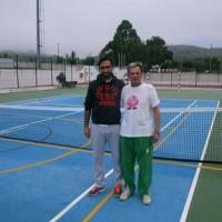 Presidente do Vilarregense com Paulino Fernandes