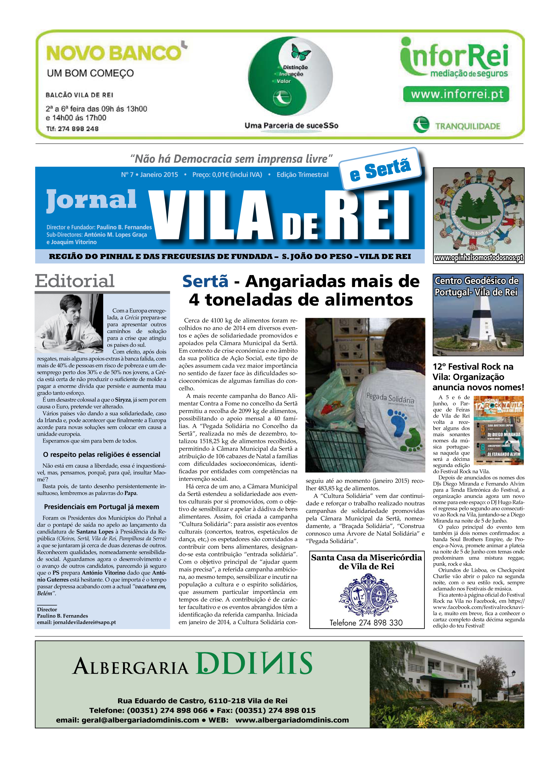capa_Vila de Rei_janeiro 2015