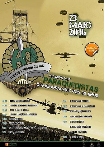 Município de Vila Nova da Barquinha presta homenagem a tropas ParaQuedistas dia 23 de Maio