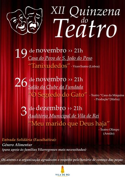 Vila de Rei | Quinzena de Teatro Solidário  em S. João do Peso