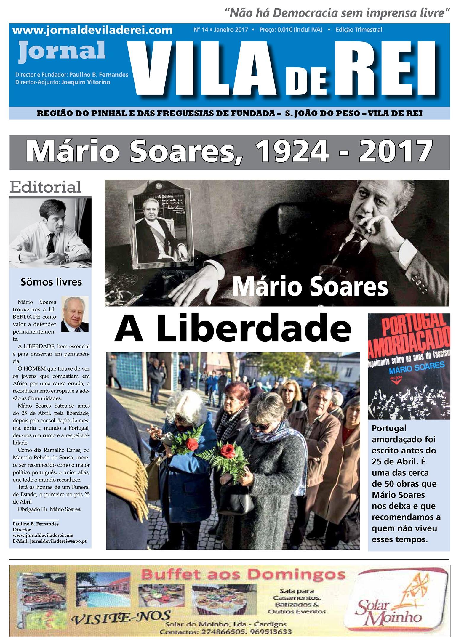 Dr. Mário Soares, a homenagem do nosso jornal