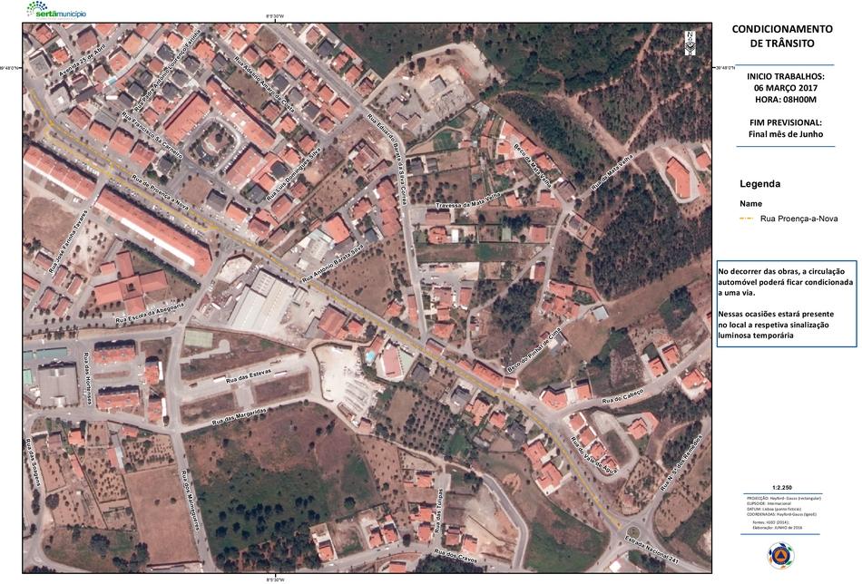 Sertã  | Obras de requalificação motivam condicionamentos na circulação